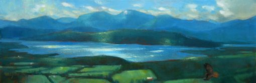 From a High Place 8x24 Oil by Michael Chesley Johnson