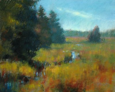 Barrier Beach Grasses 11x14 Pastel by Michael Chesley Johnson