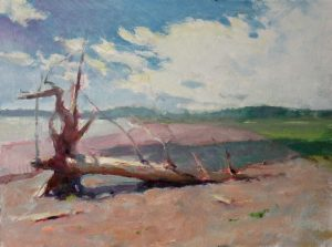 Fallen 9x12 Oil by Michael Chesley Johnson