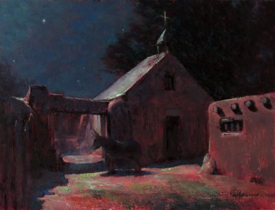 Capilla de la Noche 12x16 Oil by Michael Chesley Johnson