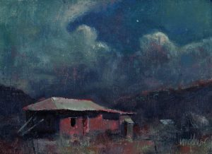 High Desert Night 6x8 Oil by Michael Chesley Johnson