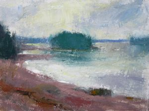 Islands 6x8 Oil by Michael Chesley Johnson. Landscapes, maritime paintings, plein air painting workshops in the US and abroad Michael Chesley Johnson
