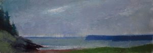Moody Bay 4x12 Oil by Michael Chesley Johnson