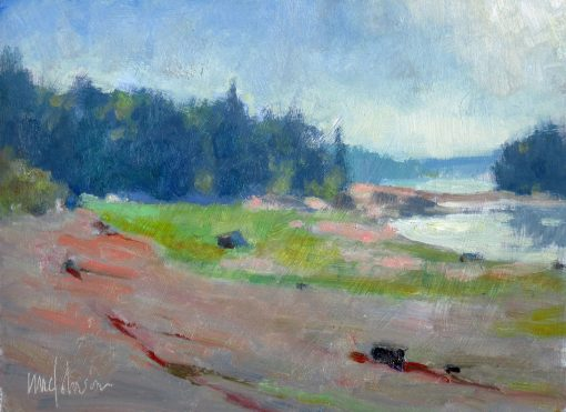 Seascape: Quiet Time 6x8 Oil by Michael Chesley Johnson