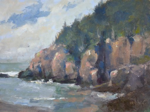 These Bold Cliffs 9x12 Oil by Michael Chesley Johnson