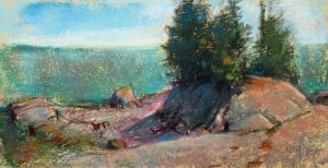 Tide's Out 5x9 Pastel by Michael Chesley Johnson