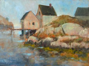 Peggy's Cove Afternoon, 9x12 Oil by Michael Chesley Johnson