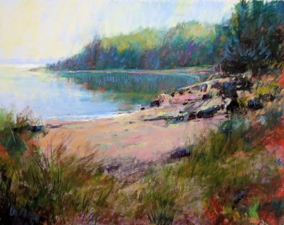 Bay View 12x14 Pastel by Michael Chesley Johnson