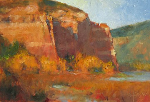 High Desert, Secret Shadows 8x12 Oil Landscape Painting by Michael Chesley Johnson