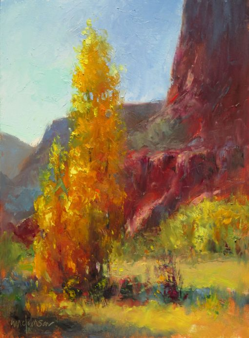 That Time of Year 12x9 Oil by Michael Chesley Johnson