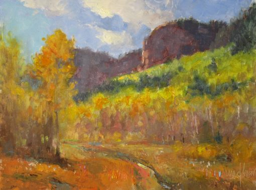Up in Colorado 9x12 Oil by Michael Chesley Johnson