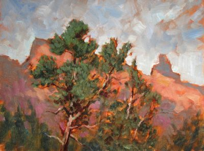 Ridge View 9x12 Oil by Michael Chesley Johnson