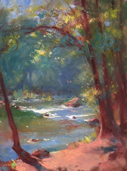 Sunny Creek 12x9 Oil by Michael Chesley Johnson