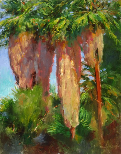 Three Palms 16x12 Oil by Michael Chesley Johnson