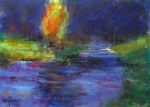 Bend 9x13 Pastel by Michael Chesley Johnson