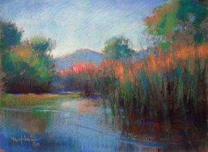 Lake in the Desert 9x12 Pastel by Michael Chesley Johnson