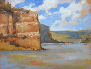 Ramah Lake Study II 6x8 Oil by Michael Chesley Johnson