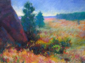 Wildland Garden 9x12 Pastel by Michael Chesley Johnson