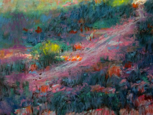 El Malpais: Lava and Sandstone 19x25 Pastel - Detail - by Michael Chesley Johnson