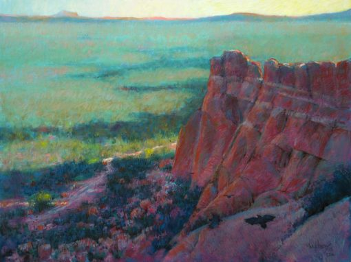 El Malpais: Lava and Sandstone 19x25 Pastel by Michael Chesley Johnson