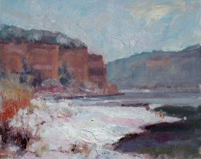 Lake Snow 10x12 Oil by Michael Chesley Johnson