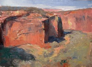Down Below 9x12 Oil (Slide House Overlook, Canyon de Chelly National Monument) by Michael Chesley Johnson