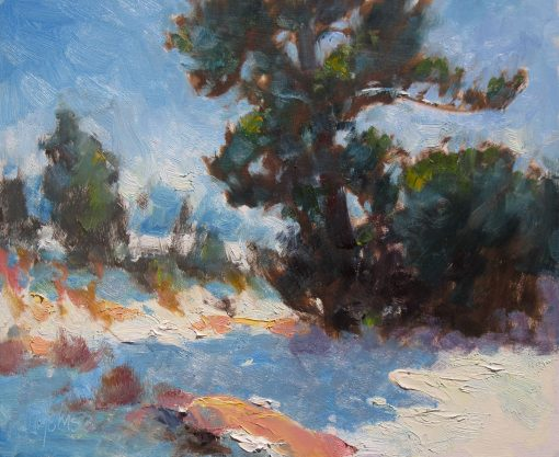 In the Shadow 10x12 Oil by Michael Chesley Johnson