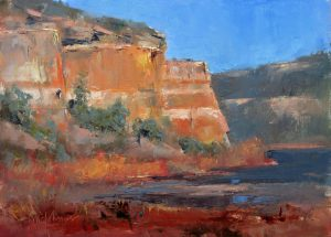 Winter Colors 9x12 Oil (Ramah Lake, NM) by Michael Chesley Johnson