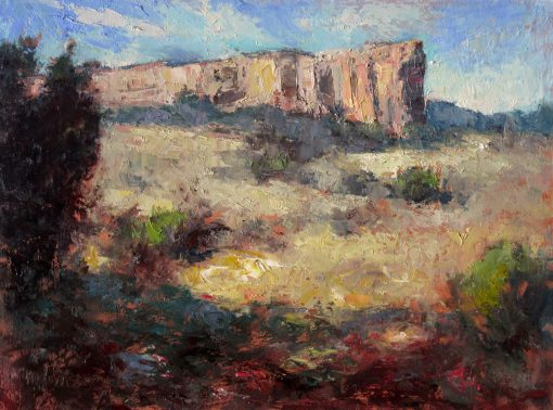 Winter Garden 12x16 Oil (El Morro National Monument, NM) by Michael Chesley Johnson