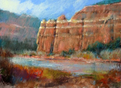 Lakeside Peace 9x12 Pastel by Michael Chesley Johnson