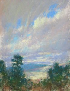 Virga Over the Valley 12x9 Pastel by Michael Chesley Johnson