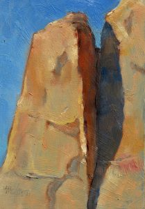 Morning Cliff Shadow 8x6 Oil by Michael Chesley Johnson