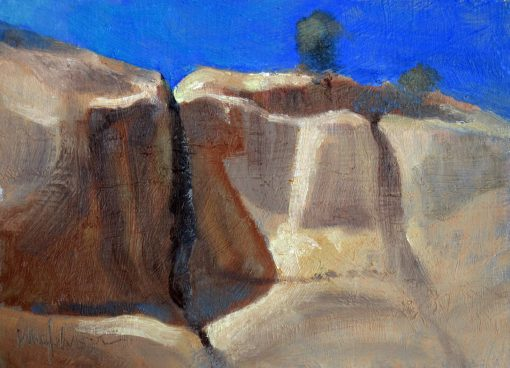 Rock Top 2 6x8 Oil by Michael Chesley Johnson
