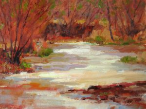 Spring on the River 9x12 Oil by Michael Chesley Johnson