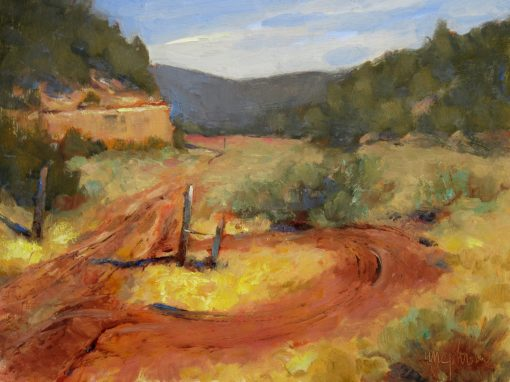 Turnaround 9x12 Oil by Michael Chesley Johnson