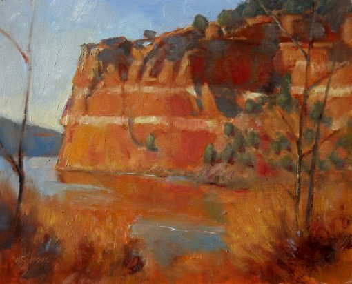 Window in the Rock 9x12 Oil by Michael Chesley Johnson